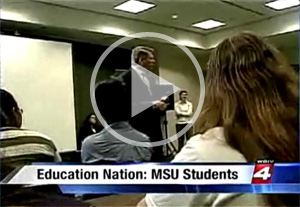 On the news in Detroit: MSU teacher candidates talk about their career path