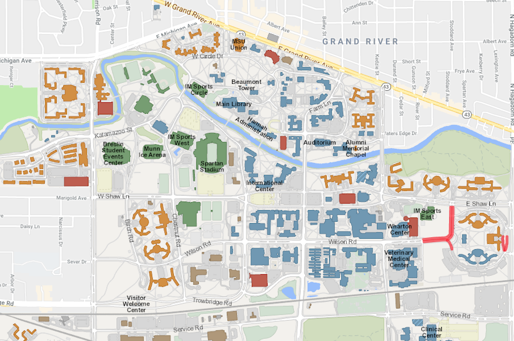 MSU Map
