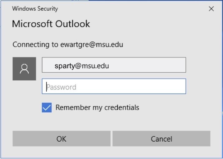 password window screenshot