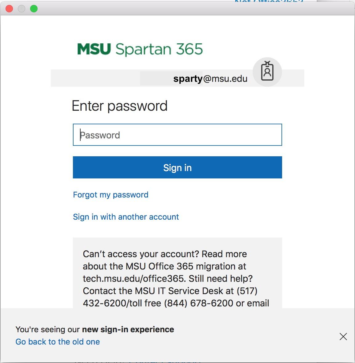 MSU Spartan 365 screenshot